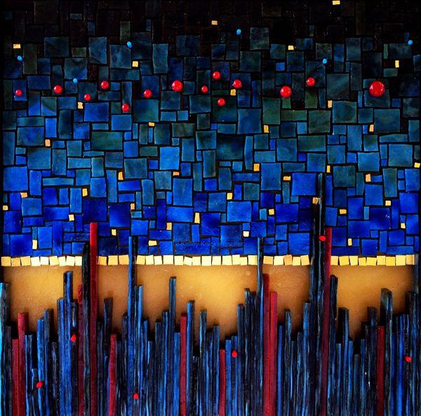Nightfall by © Kelley Knickerbocker   Architectural and Fine Art Mosaic, via rivenworksmosaics.com