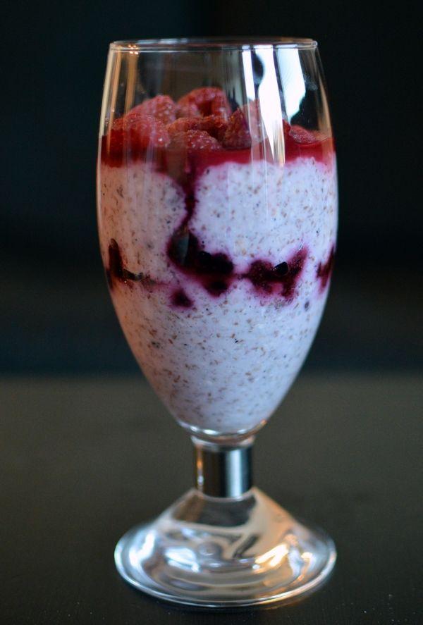 Blåbær-overnight oats