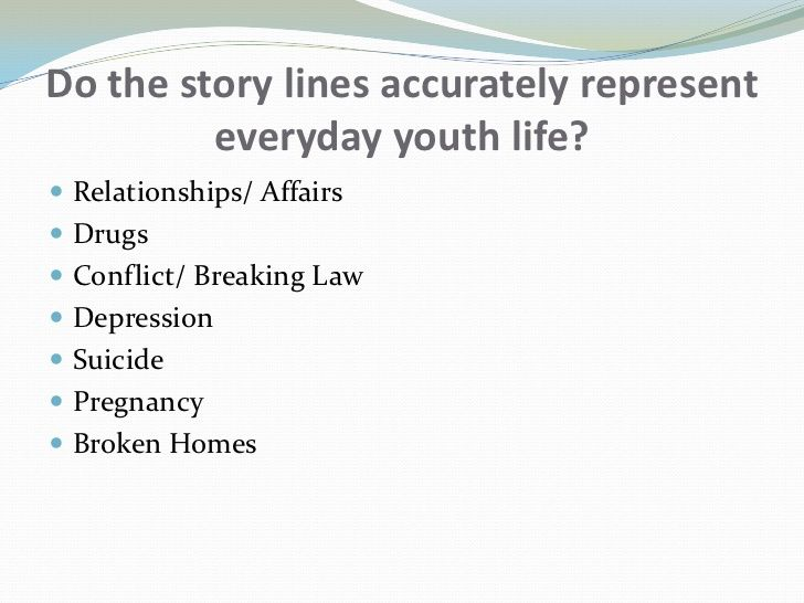 Representations of Youth in TV drama