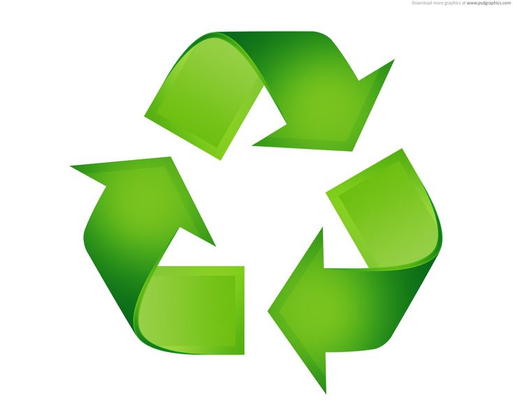 A symbol like this could be used as a projection where the recycling symbol is required