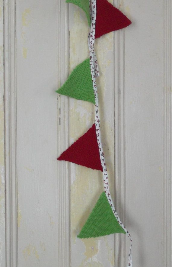 Vintage Style Knitted Mini Bunting by CutupProductions on Etsy, £10.00
