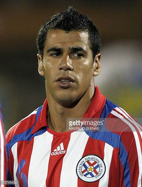 Carlos Bonet of Paraguays national football team poses before a friendly match against Colombia 28 March at El Campin stadium in Bogota AFP...
