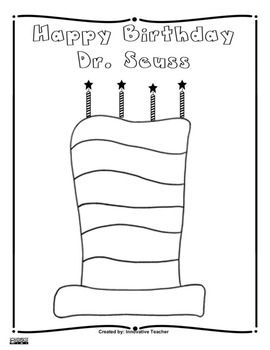 Dr Seuss Coloring Pages And Coloring On Pinterest Happy Birthday Dr Seuss Coloring Page