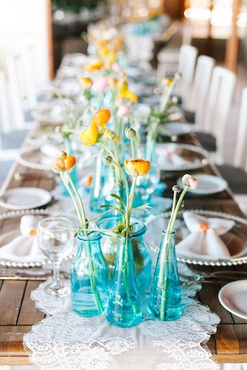 25 Best Turquoise Centerpieces Ideas On Pinterest Turquoise Wedding Decor Blue Wedding