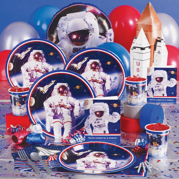 astronaut party supplies - 736×736