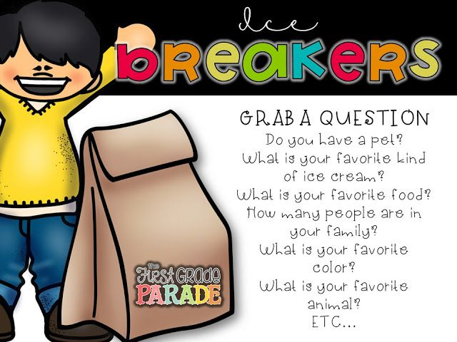 17 Best ideas about Kindergarten Ice Breakers on Pinterest ...