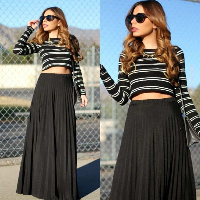 108 best Crop top and maxi skirt images on Pinterest | Maxi skirts ...