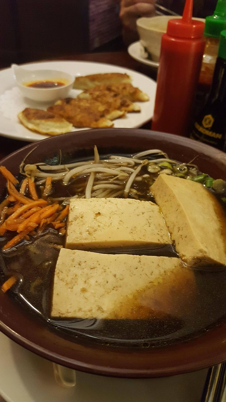 My husband knows that I love food almost as much as I love him so for our anniversary today he took me out to try two new cuisines at restaurants with vegan options. Ethiopian for lunch (see comments) and Korean for dinner (thumbnail).