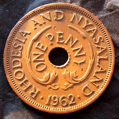 Rhodesia e Nyasaland, 1 penny 1962
