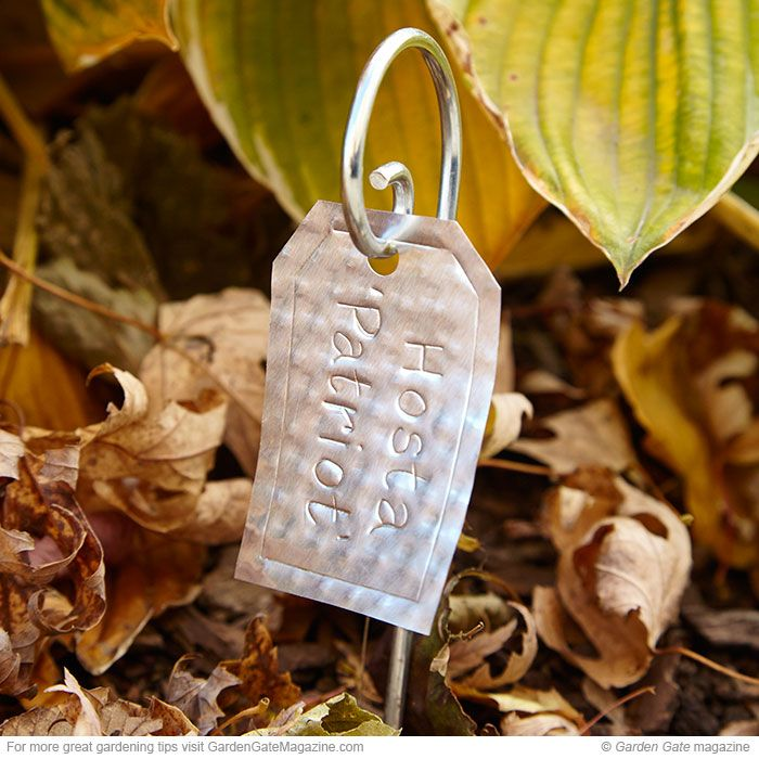 Make your own durable plant labels from recycled aluminum!