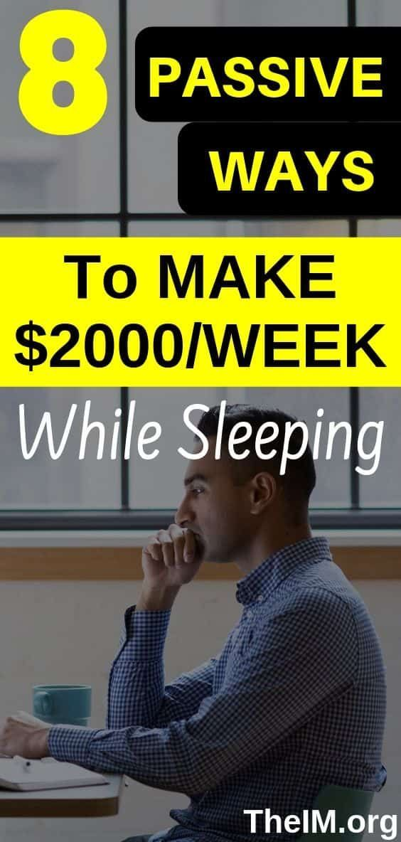 8 Legit Ways To Make Money While Sleeping! 8 worth it ways to earn instant cash … – ArT dessssignerss