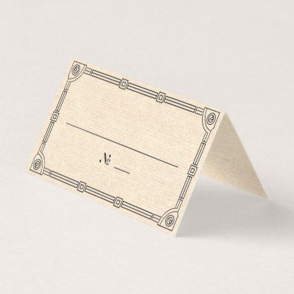 Elegant Vintage Art Deco Place / Escort Card - antique wedding gifts  special custom party