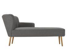 Jersey chaise longue met leuning links, grafietgrijs
