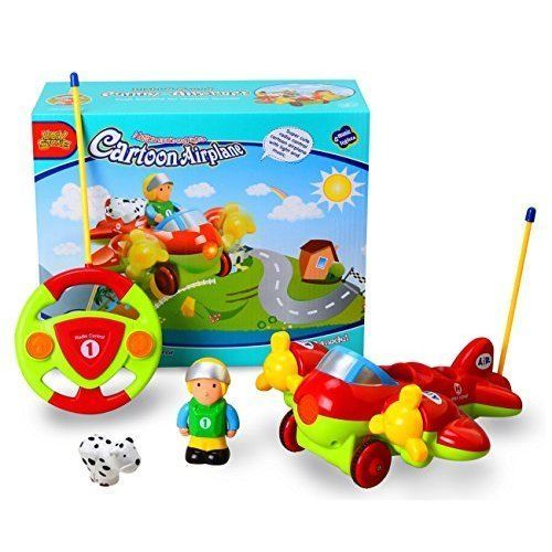 Kids RC Cartoon Airplane Remote Control Learning Baby Toddlers Children Gift NEW #KidsRCCartoonAirplane