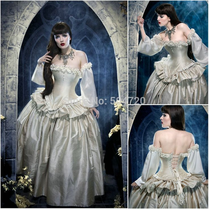 R-282 19 eeuw vintage victorian kostuum lolita 1860s/burgeroorlog renaissance jurk halloween jurken alle maten €123,10