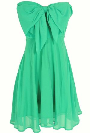 Oversized Bow Chiffon Dress in Jade. This boutique is amaze!!
