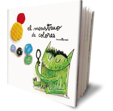 El Monstruo de Colores - Libro ilustrado por Anna Llenas