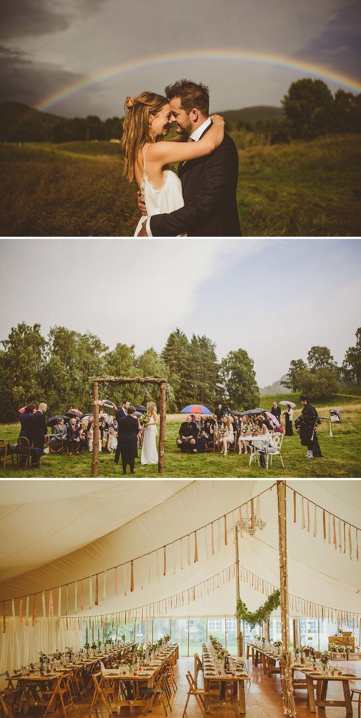 Rainy Scottish Countryside Wedding