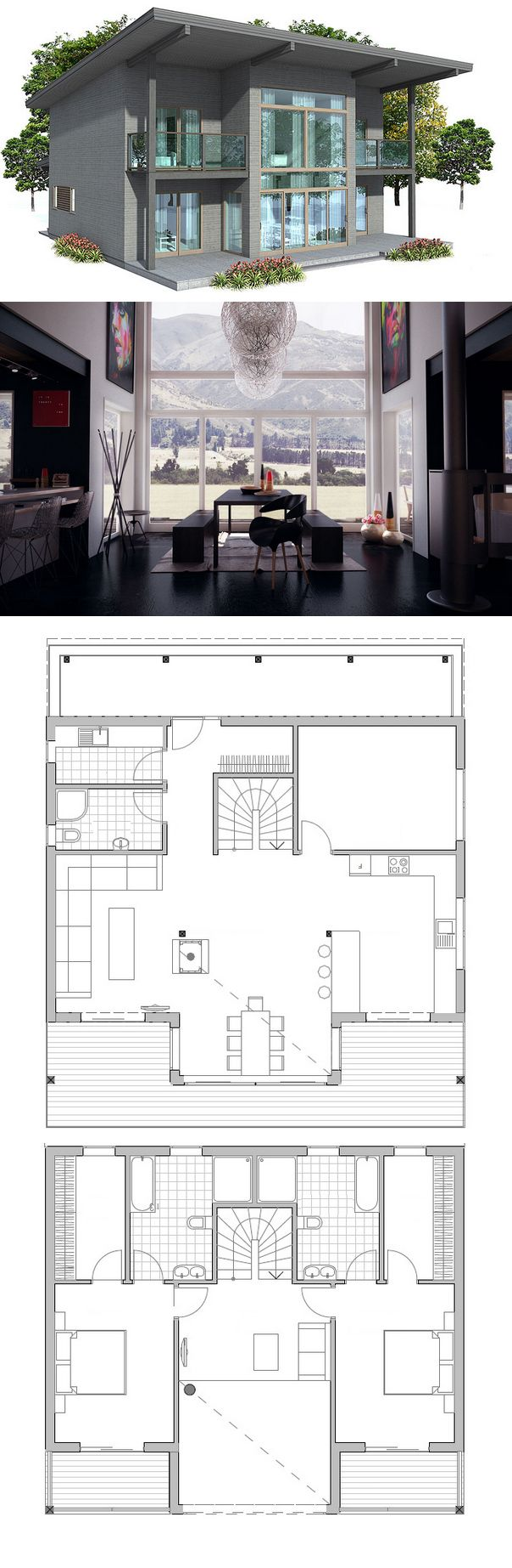 House Plan 76 best 45 layout