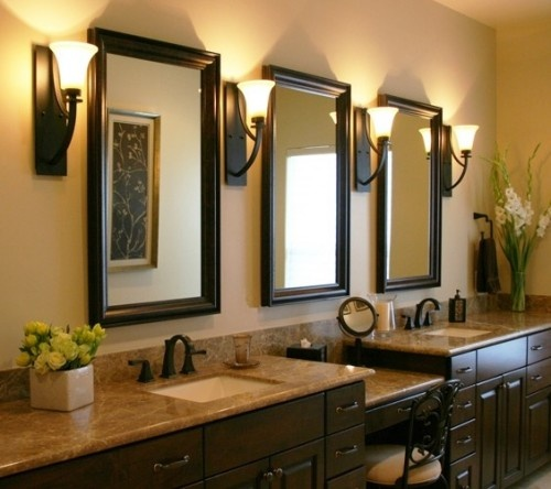 Downlights Over Vanity : Multi-level vanity For the Home Pinterest Towels, Vanities and Bath