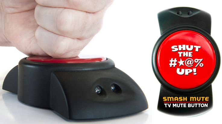 Giant Mute Button Silences Commercials With A Vengeance