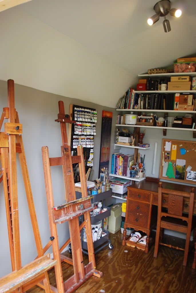 What would you put in your she shed? Need an art studio? Transform your shed into one!
