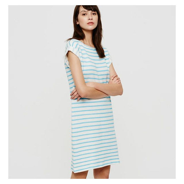 WIZWID:위즈위드 - [Ann Taylor LOFT:앤 테일러 로프트] Lou / Grey Striped Summer Sweatshirt Dress