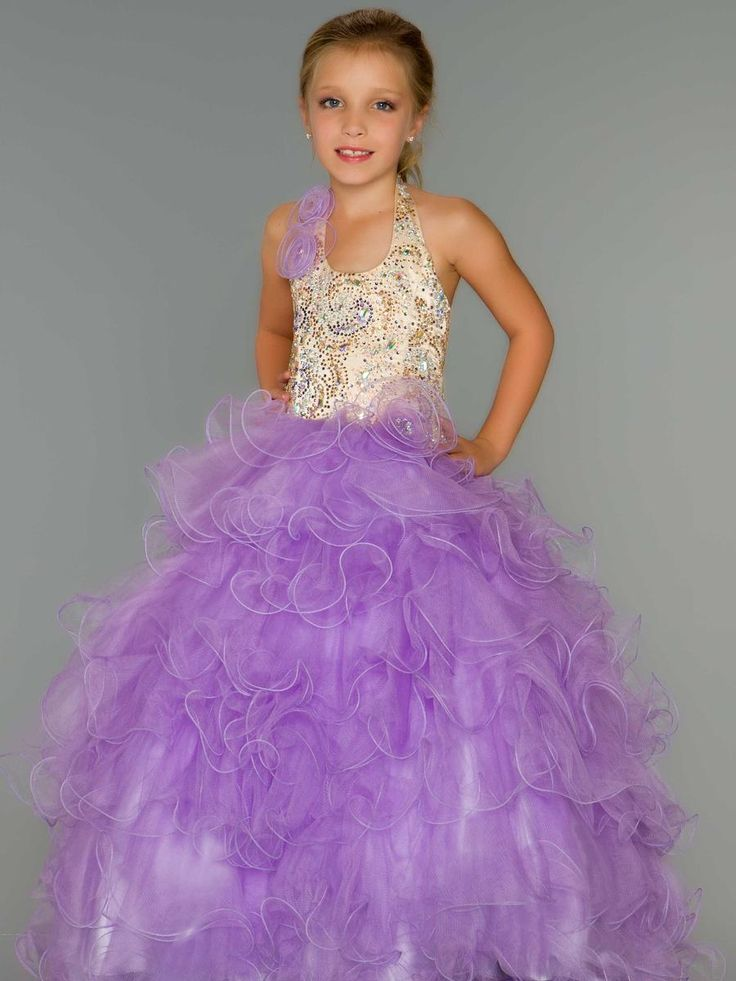 Girls Pageant Dress by Sugar 81680s
