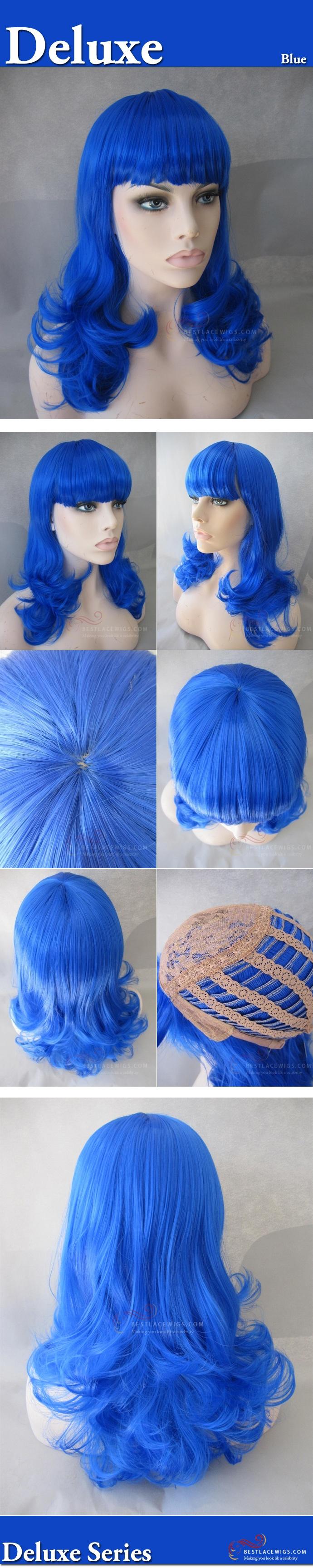 Halloween Wigs Katy Perry Costume Blue Wig [HW016] @ Bestlacewigs.com