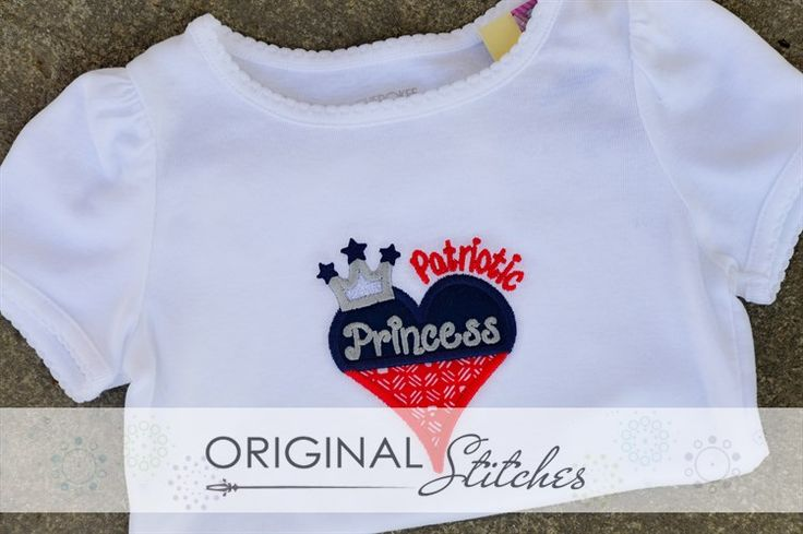 Patriotic Princess, Machine Embroidery and Applique Designs Downloads | Original Stitches - Embroidery and Applique Design Store