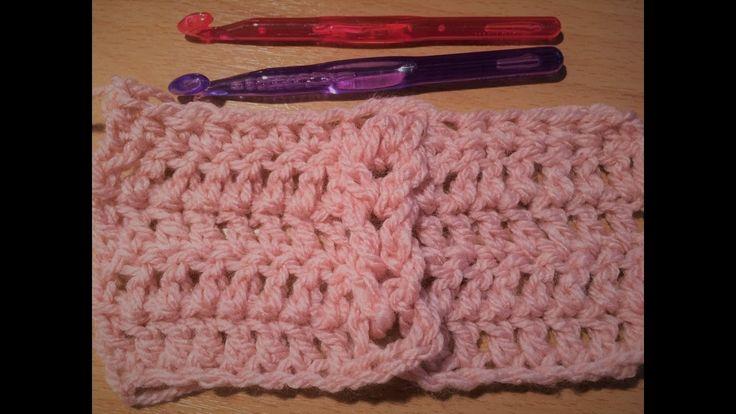 """Ευκολη πλεξη """"σκαλα"""" με βελονακι . how to crochet Jacob's ladder stitch"""