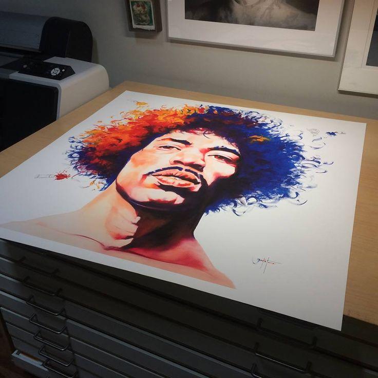 """""""Jimi Hendrix"""", de David Badia Ferrer lista para enviar. Impresión #fineart #giclée impresa en Canson Infinity Edition Etching Rag 310gsm disponible en su tienda online #badiaferrer #davidbadia #davidbadiaferrer #art #artprint #daily_art #fineartprints"""