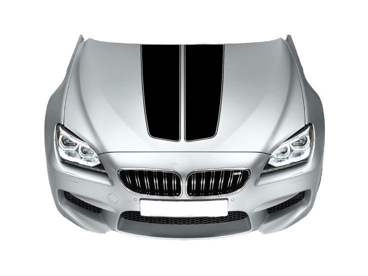 Bonnet Racing Stripes Cars Stickers  Decal Size 65x45 Cm