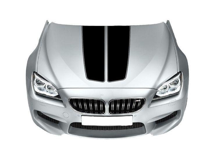 Bonnet Racing Stripes Cars Stickers  Decal Size 65x45 Cm