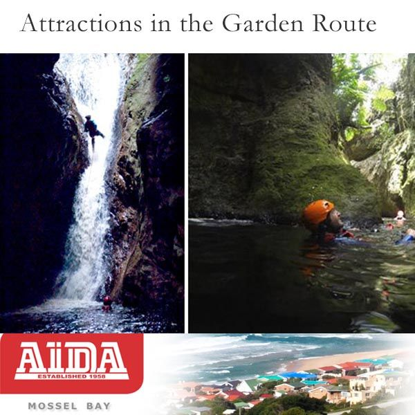 Attractions in the Garden Route. AfriCanyon River Adventures (The Crags, South Africa). AfriCanyon offers an incredibly unique experience on the entire Garden Route. Africanyon's fully accredited and professional guides will take you into a world totally unknown and ONLY accessible by them. A combination of abseiling, jumping, swimming, zip-lining awaits!  Visit our website here: http://bit.ly/JnkX3U #africanyon #attractions #gardenroute