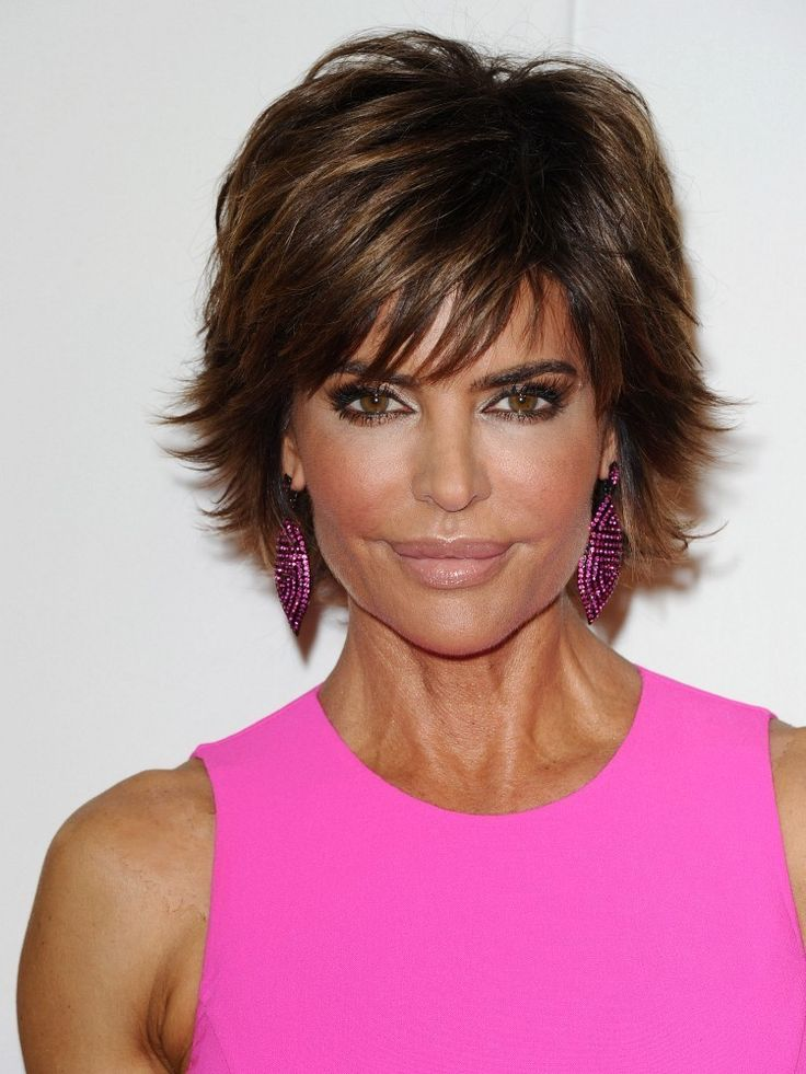 More Pics Of Lisa Rinna Layered Razor Cut Lisa Rinna