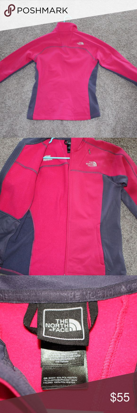 Women's Small North Face jacket This two-toned pink and grey women's north face jacket is in great condition. Only worn a handful of times. I'm selling it because I moved to a warmer climate and don't have a need for this jacket. Very light weight but warm. The North Face Jackets & Coats Utility Jackets