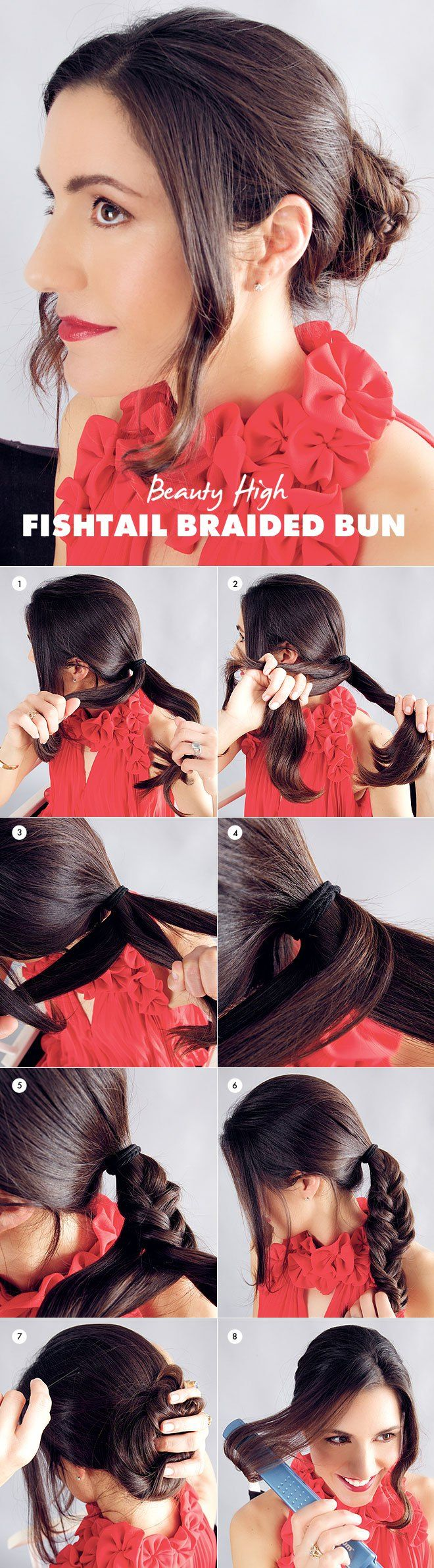 How to Get a Fishtail Braided Bun | Beauty High