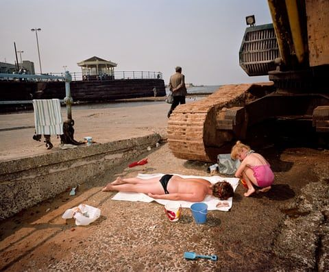 New Brighton, Merseyside, 1983-85. An exhibition of the best of British beach photography from the 1960s to the present, featuring work by Martin Parr, Tony Ray-Jones, Simon Roberts and David Hurn, is at The National Maritime Museum from 23 March to 30 September 2018