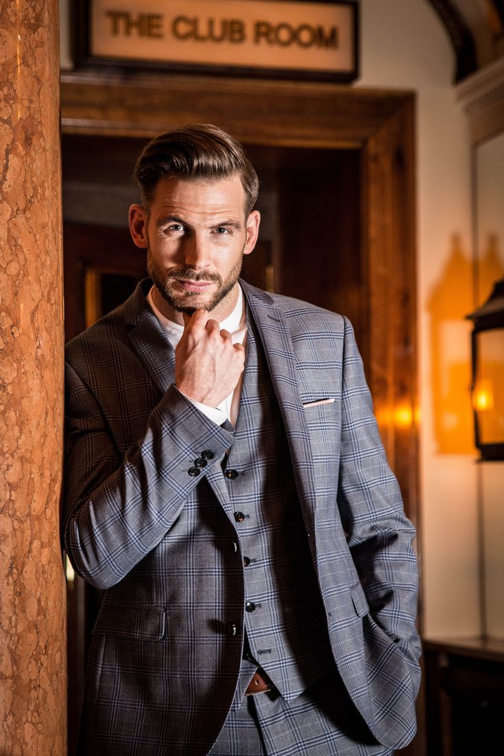 Get checked out in a check suit... Perfect for the groom, groomsmen or guests this wedding season! Shop now: https://www.slaters.co.uk/mens-suits/three-piece-suits