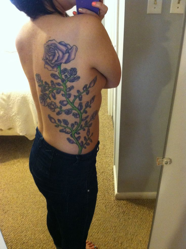 My 65 purple roses for cystic fibrosis tattoo for my sister