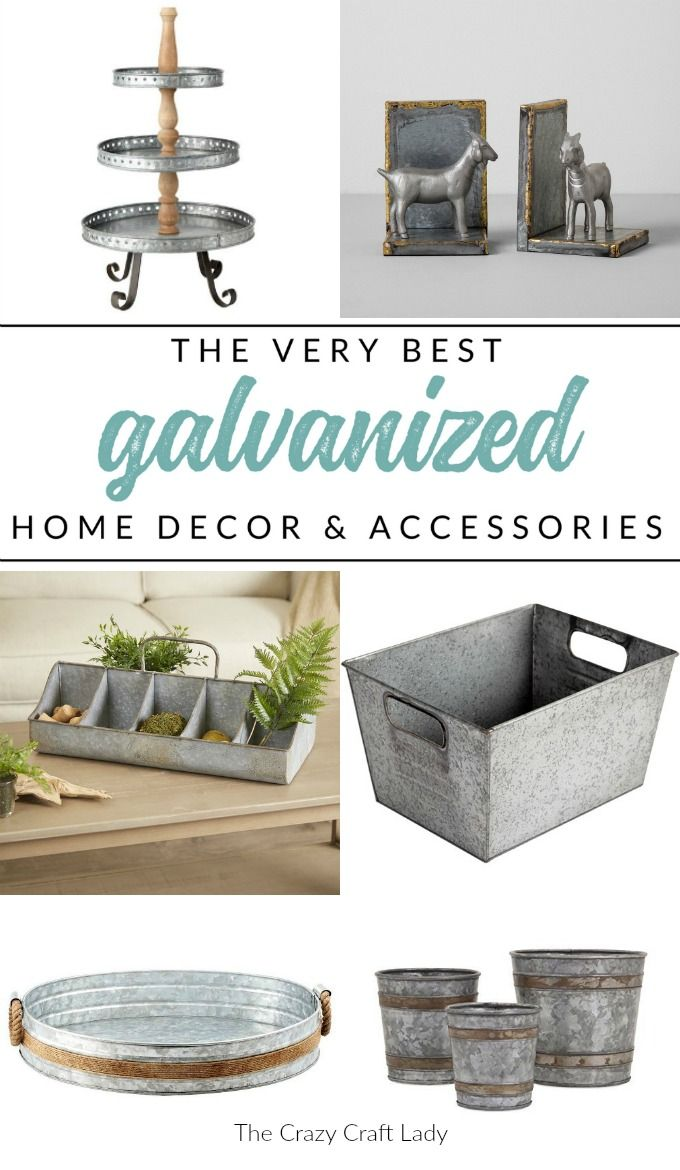 Shop my top picks for galvanized decor and home accessories, all while sticking to a budget. Find the very best inexpensive home accents and decorating finds for farmhouse style. #galvanized #farmhousedecor #budgetfriendlydecor
