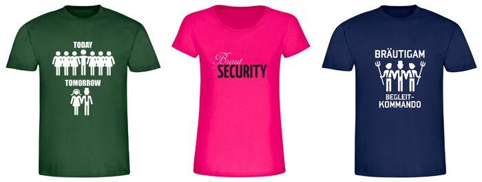 Gestaltet eure Junggesellenabschied T-Shirts selbst oder sucht eine komplette Verkleidung aus. Wir haben die passenden Tipps, Ideen und Anregungen!