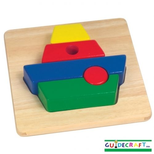 Guidecraft Primary Puzzle - Boat - Tumble & Roll Educational Toys. The big, chunky pieces of these colourful puzzles are easy for toddlers and preschoolers to grasp. $16.00 #educationaltoys #toddlerstoys #toys