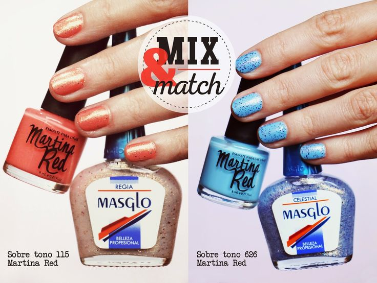 COLECCIÓN ALTA MAR MASGLO. Nail polish Mix & Match.