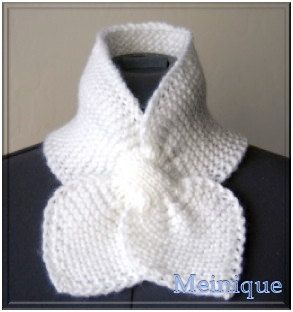 Ascot Scarf White by meinique on Etsy, $24.95