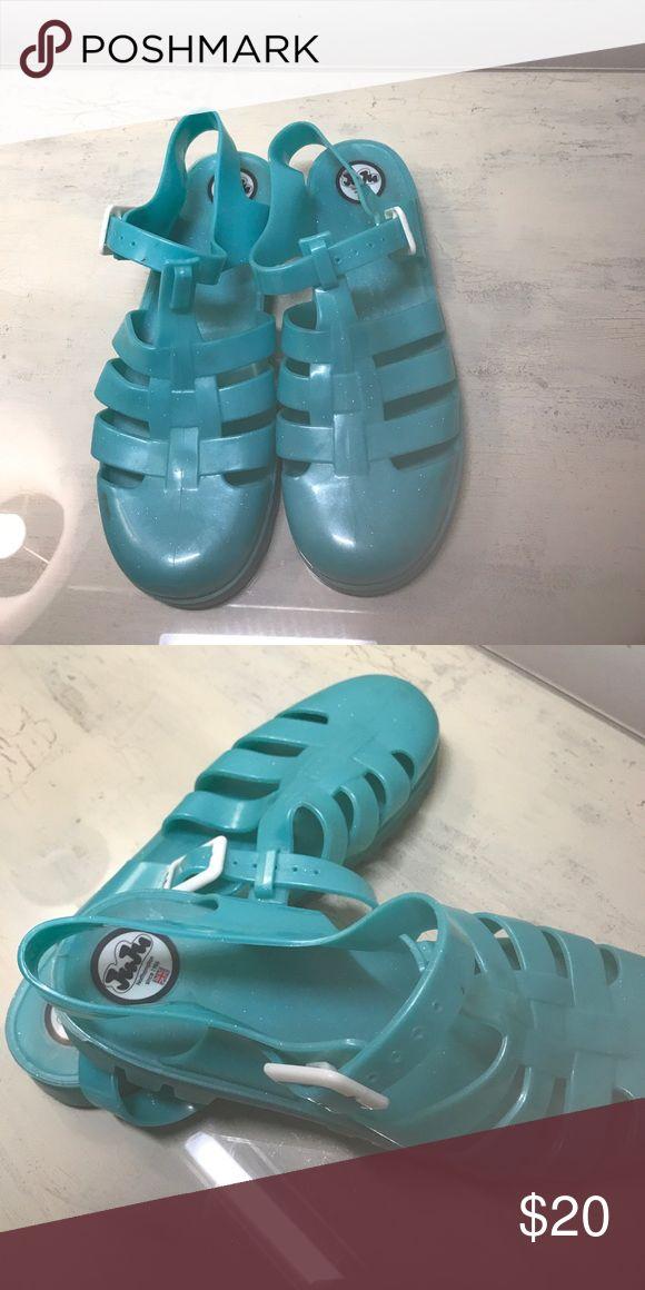 Juju Jellies Turquoise sparkly Juju Jellies JuJu Shoes Sandals