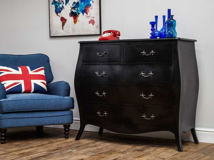 Simple bombe style chest of drawers