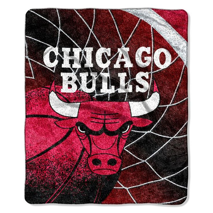 Chicago Bulls Sherpa Blanket, Multicolor