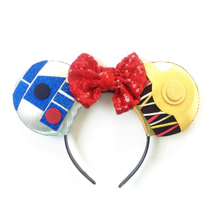 Star Wars C3PO and R2D2 Disney Inspired Ears, Star Wars Ears, Star Wars C3PO R2D2 Mickey Ears, Star Wars, Best Friends Ears PRE-ORDER 2-3 W by ToNeverNeverland on Etsy https://www.etsy.com/listing/243182099/star-wars-c3po-and-r2d2-disney-inspired